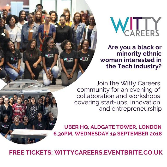 Calling all Black and Minority Ethnic women interested in #startups #innovation and #entrepreneurship 📢📢 We are back again with another event! This time we're having an evening of interactive workshops and collaboration at Uber HQ in London. Link to free tickets in our bio!