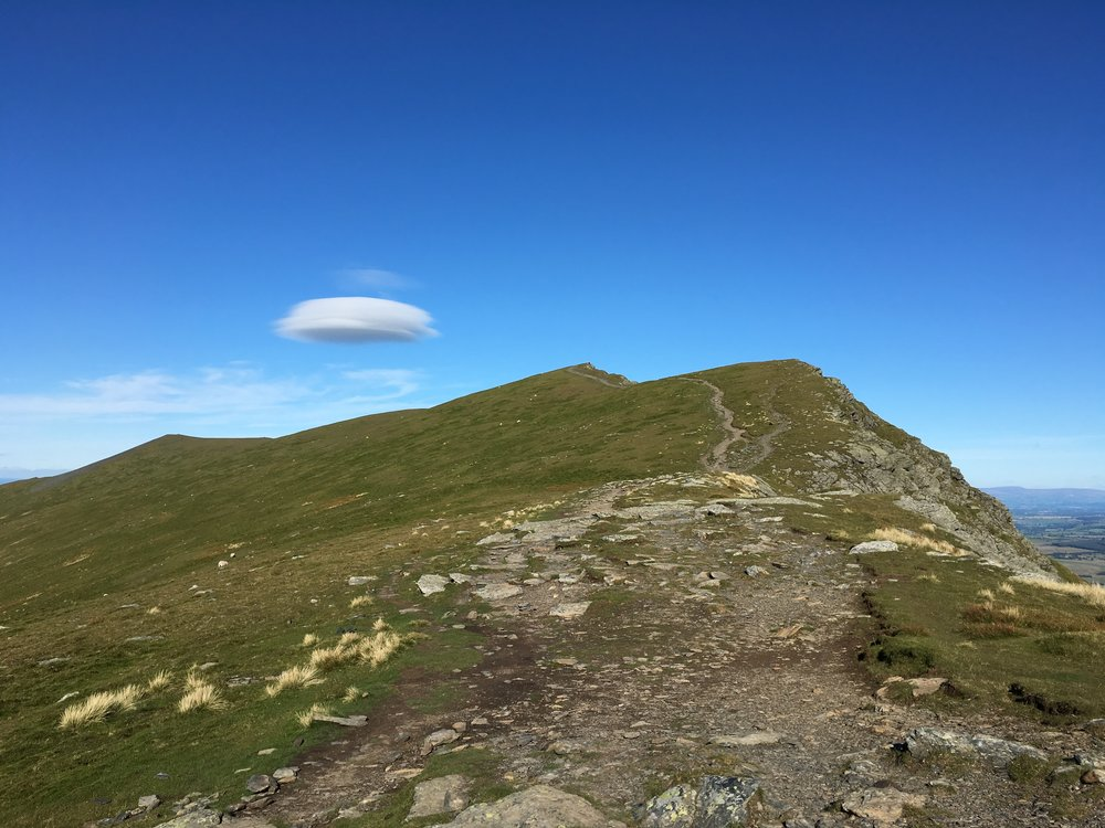 Lenticular clouds over Blencathra