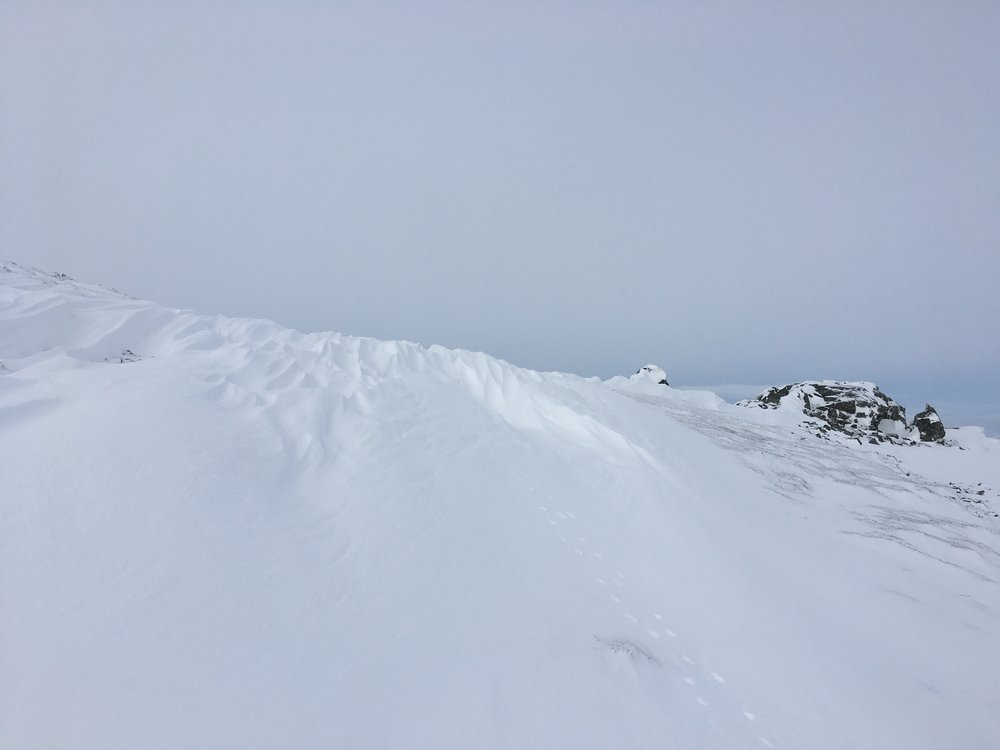 Deep snow patches