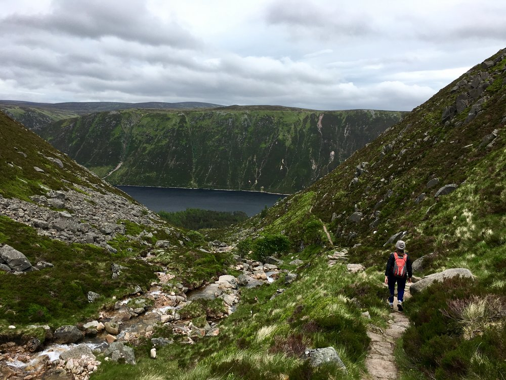 Walking down to Loch Muick