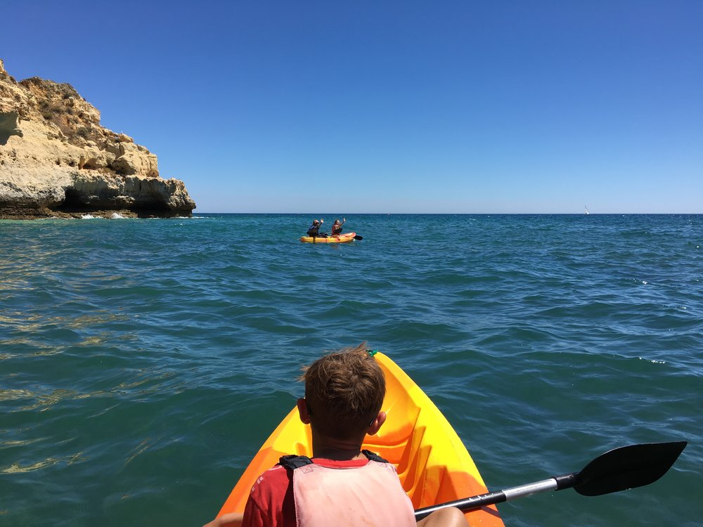 Paddling in Portugal
