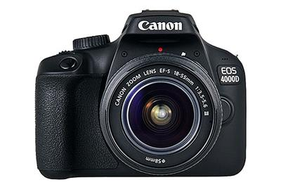 Canon EOS 4000D + 18-55mm NON IS - £319 - 18-megapixel APS-C sensor Full HD movie recordingBuilt-in Wi-Fi 3fps burst shooting Shutter Speed, Maximum: 1/4000 secShutter Speed, Minimum: 30 secConnectivity: Hi Speed USB, Wi-Fi (IEEE802.11b/g/n), HDMI mini (Type-C) outputSize: 129.0 x 101.6 x 77.1 mmWeight: 436 g