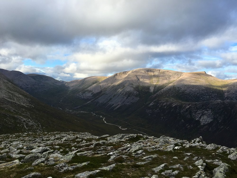 View from Devil's Point looking towards Ben Macdui