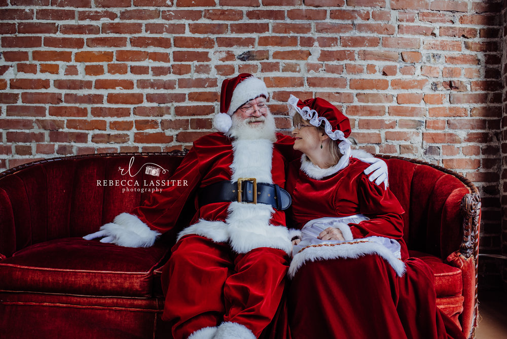 Mr. and Mrs. Clause Rebecca Lassiter Photoraphy
