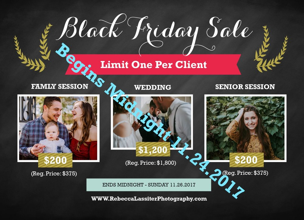 Kansas City Photographer Black Friday Special
