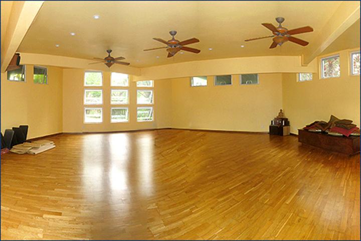 Our larger practice room features a unique hexagonal shape
