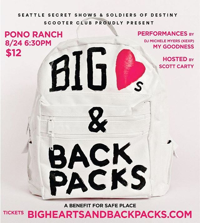 Next week we'll be helping raise money for Safe Place + Hand in Hand Kids at Pono Ranch. Great cause, would love to see you ❤️🎒