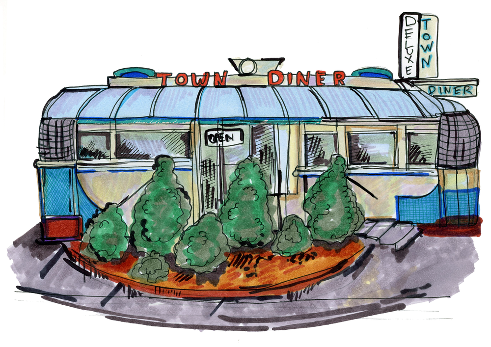 Diner illustration by  Lindsey Frances