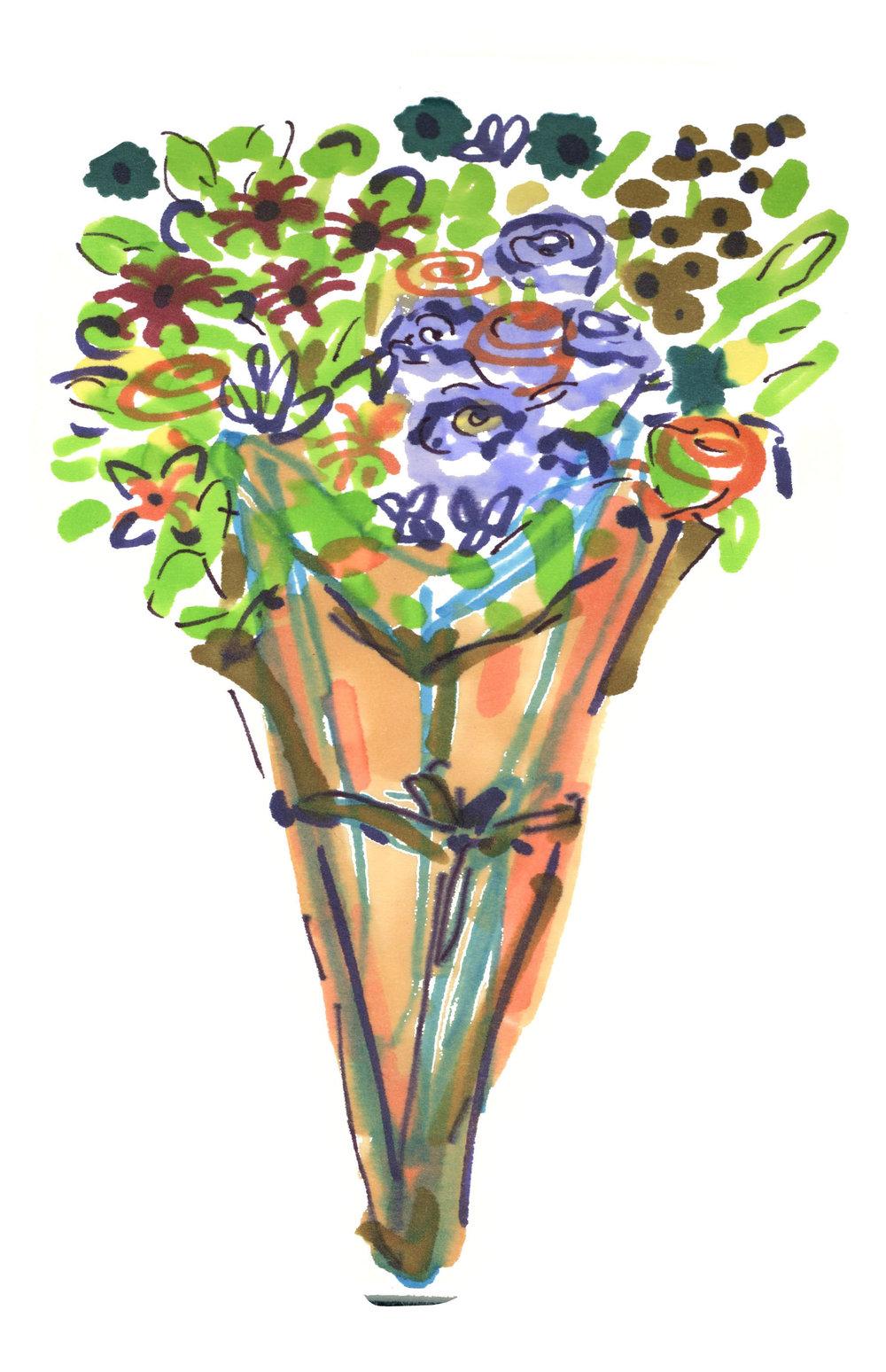 Bodega Flowers by  Lindsey Frances