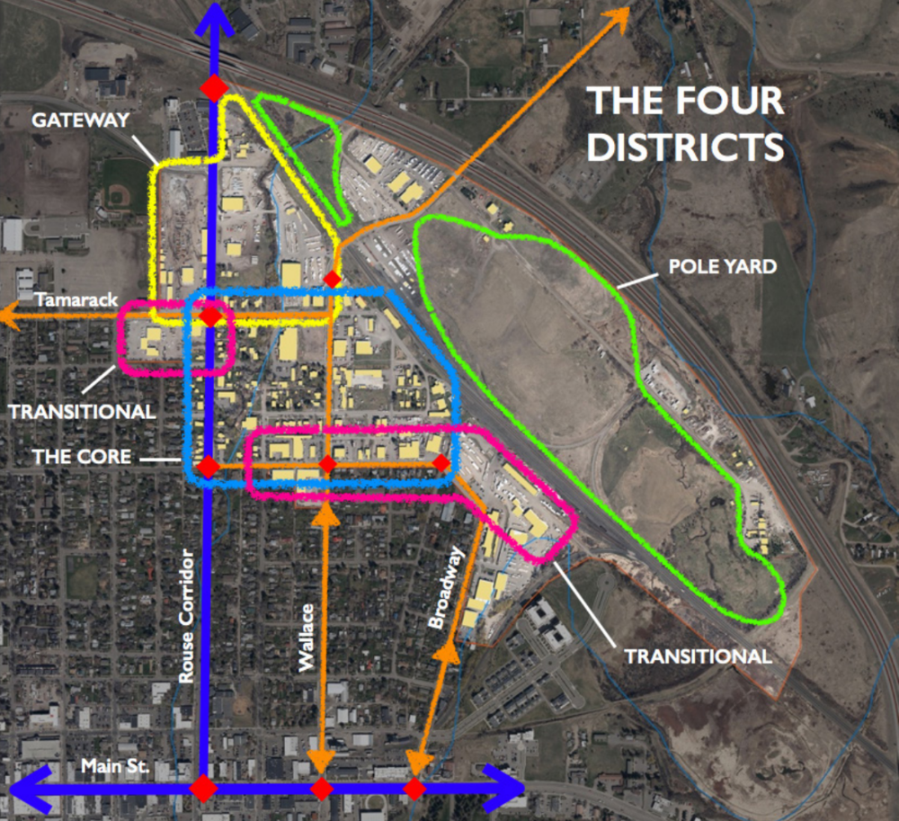 Proposed districts for Bozeman's Northeast Neighborhood
