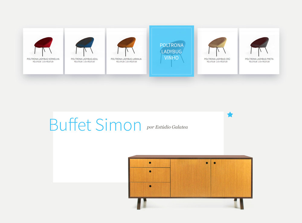 High-end furniture for everyone - UX, Visual