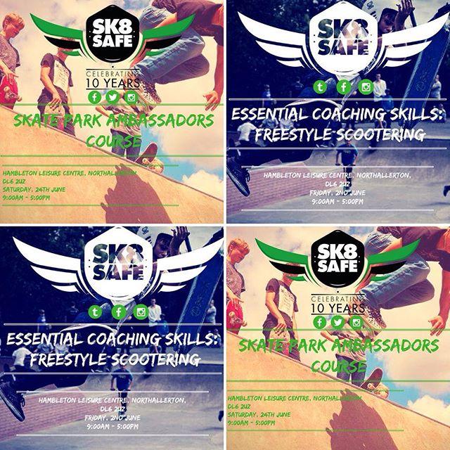 Get involved with some rad summer work at #Northallerton #skatepark get us DM'ed to book! #skateboarding #scooter #coaching #inspire #nextgeneration