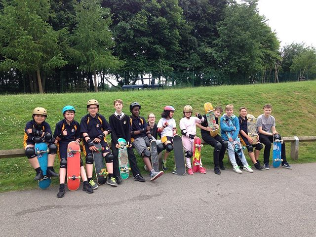Another ace session at Ralph Thoresby School yesterday! #skateboard #skateboardingisfun #skateboarding #rad #nextgeneration #inspire #learntoskate #skateschool #skatecoach #skateboardcoaching