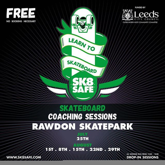 Sorry folks... Rain has cancelled play today :/ but catch us on Tuesday, 12pm til 2pm. Fingers crossed for some sun! #skatepark #skateboard #skateboarding #leeds #coaching #community #westyorkshire #rad #summer #summerholiday #britishsummer