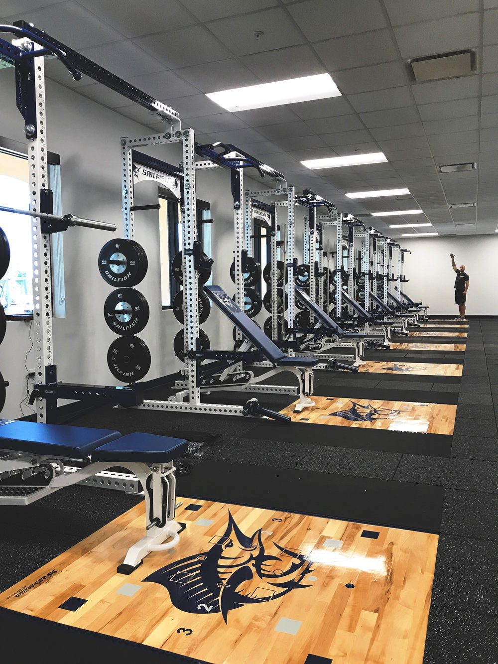 The 3,000 square foot Sailfish strength facility is nearly complete.