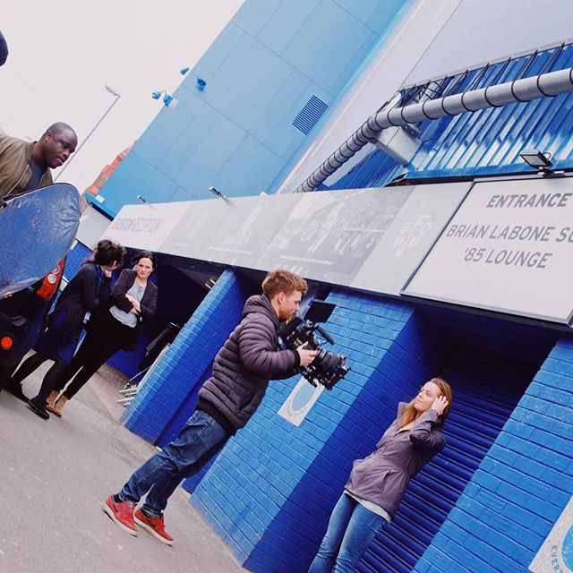#TBT to our shoot with @evertonladies and @fanatics   #video #videoproduction #evertonfc #evertonladies #reddragon #redcamerausers