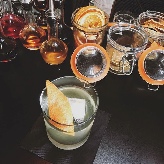 It's Monday and we need one of these already.  A Golden Negroni care of the kind folk over @maamsirla . . 📷: @conspiritor.us