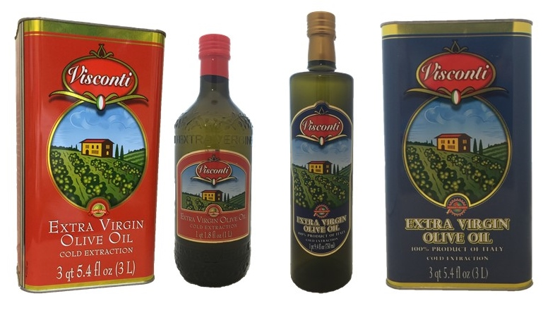 Visconti Extra Virgin Olive Oils, 100% Italian or Euro Blend
