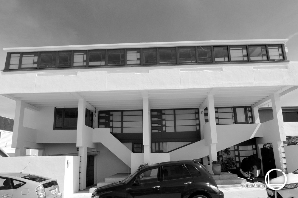 The Lovell Beach House, built in 1926 by Rudolph Schindler.  : : : :
