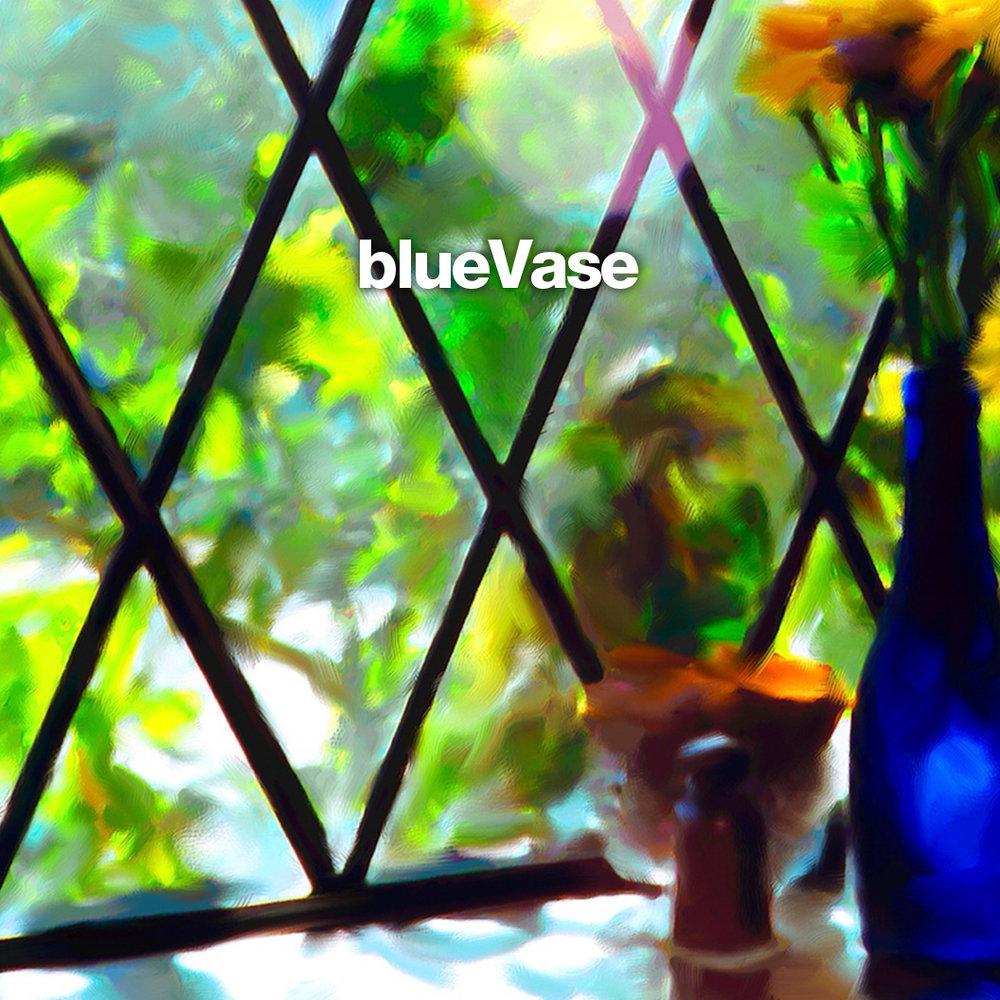 : : blue vase
