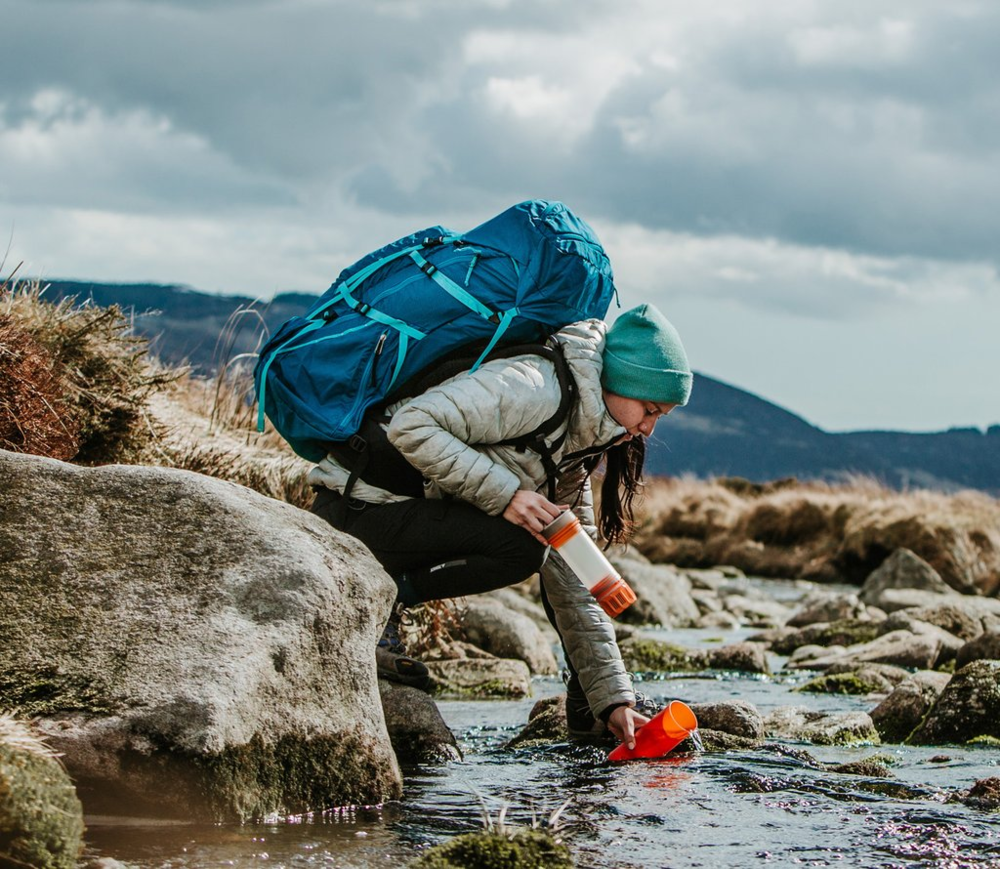 Grayl  - Fast and easy to use; the GRAYL Ultralight Purifier Bottle makes clean, purified drinking water in less than 15 seconds from virtually any freshwater source in the world.