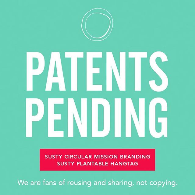 My friend and colleague made a great point today, which has led me to [drop some more wedding money] and protect Susty's original branding and message. We all just want credit for our ideas. Today's credit for making me get this done goes to 👑 @brookedomer. Now don't fuq wit me people. . . . . #patents #patentpending #originalideas #sustainablefashion #ecofriendlyfashion #ecofashion #greenfashion #sustainability #ecoconscious #plantable #reuse #upcycle #upcycledclothing #branding #mission #circulareconomy #circular #zerowaste #takenothing #giveback