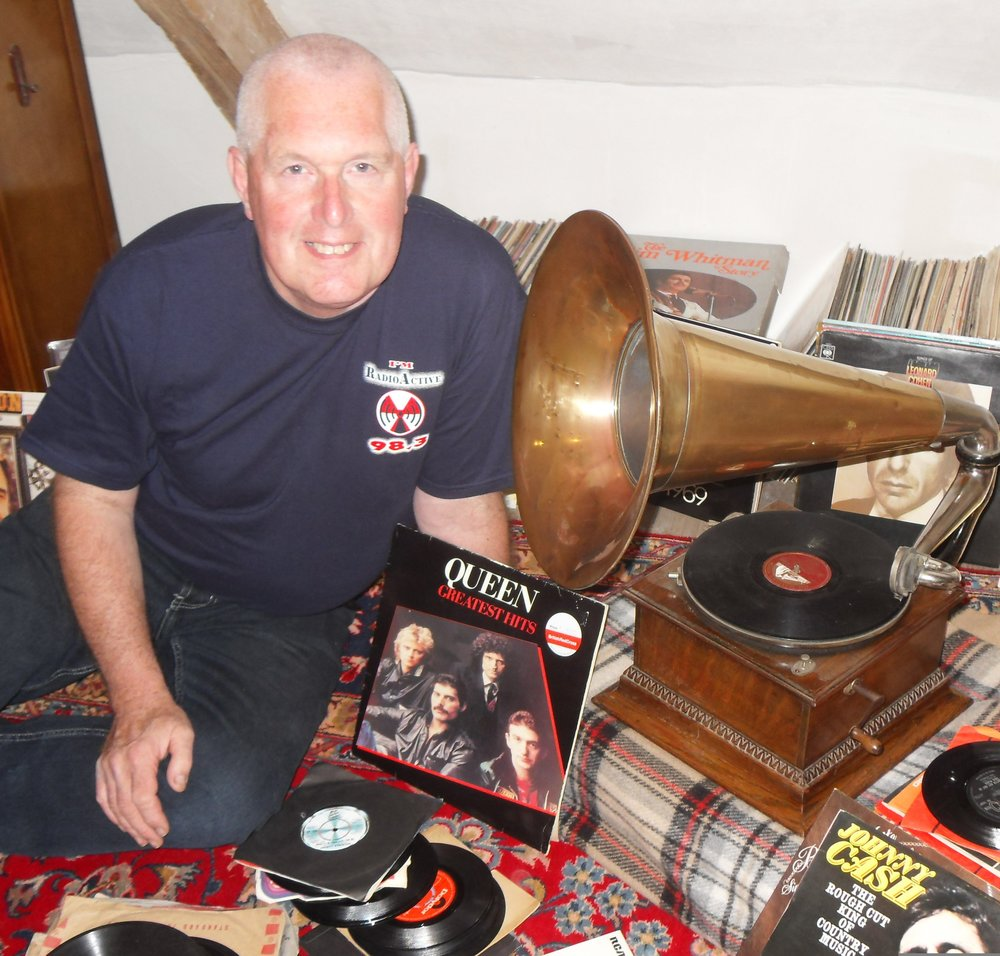 The Late Geoff Kemp at home in the Attic with Music he loved.