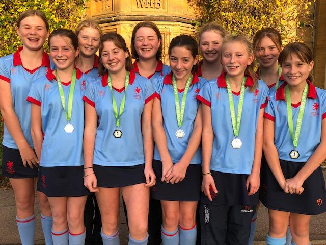 Smiling faces of the runners up from Sherborne Prep School.