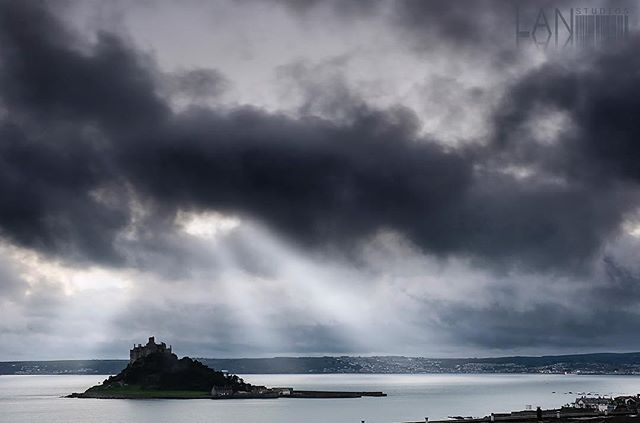 A fleeting moment of beautiful light from yesterday's shoot.  St Michaels mount, Cornwall, England
