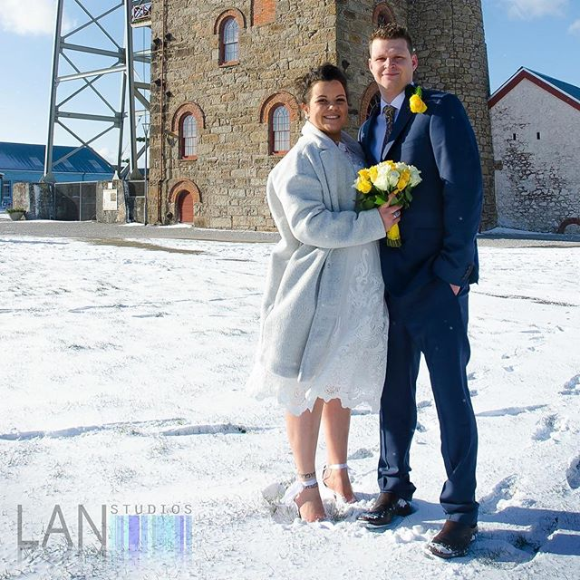 This is the first time I have photographed a wedding in the snow, despite the cold I really enjoyed it. I think it makes it a little more magical.  Congratulations Jo and scott, I wish you all the happiness in the world.  www.facebook.com/lanstudios  www.lanstudios.net  #weddingphotography #snow #weddingphotographer #cornwall #minestack #enginehouse #marriage #newlyweds #justmarried #cold #cornishwedding #inlove #brideandgroom #lanstudios