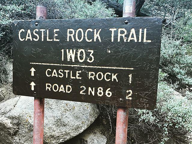 Castle Rock Trail. 7K elevation. We survived.