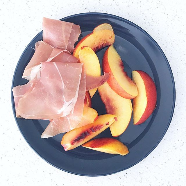 So obsessed with this combo of prosciutto and nectarines. Can't stop. Won't stop.