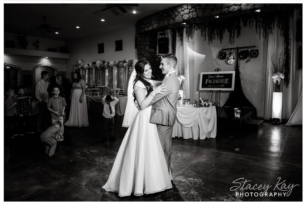 First Dance with my lighting tree (and mirror ball) - credit Stacey Kay Photography
