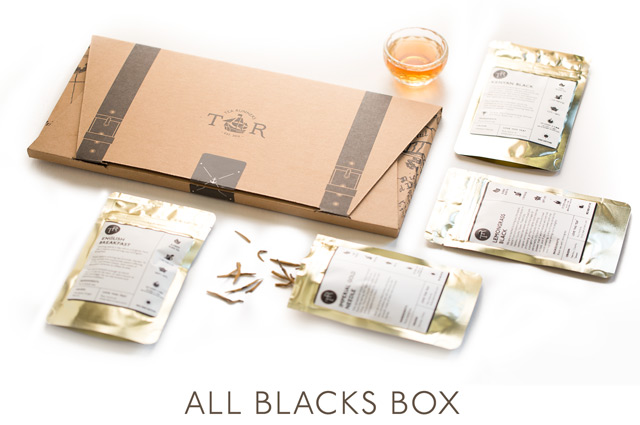 The name says it all. This box contains black tea only, including pure black teas and blended & flavored black teas.