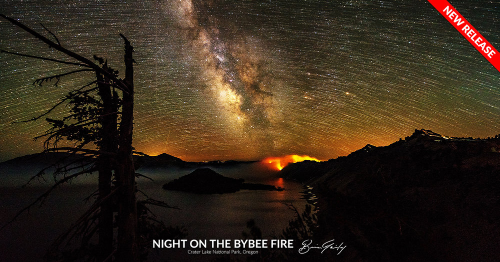 Night on the Bybee Fire - BrianGailey.com