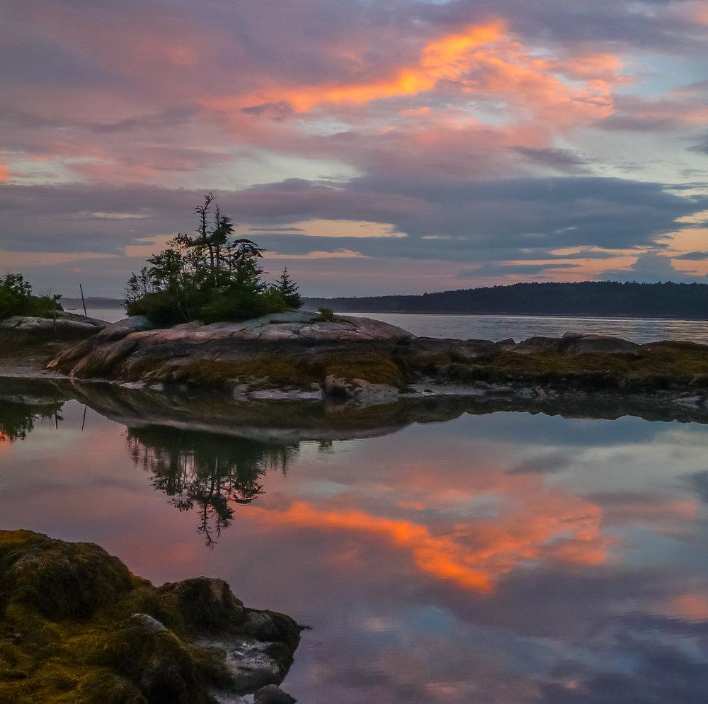 Medomak River sunset