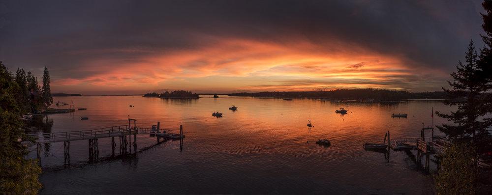 Muscongus Bay sunset
