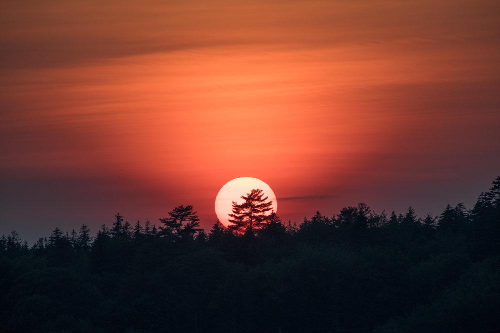 sun sets over Martin Point