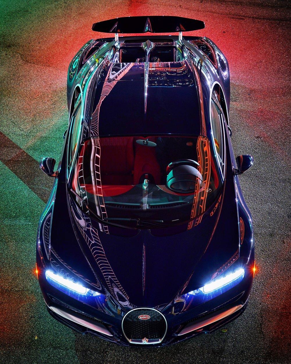 Bugatti Chiron, Downtown Los Angeles