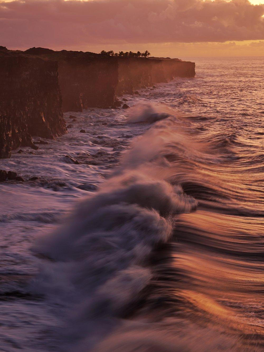 Waves in Crashing in Hawai'i