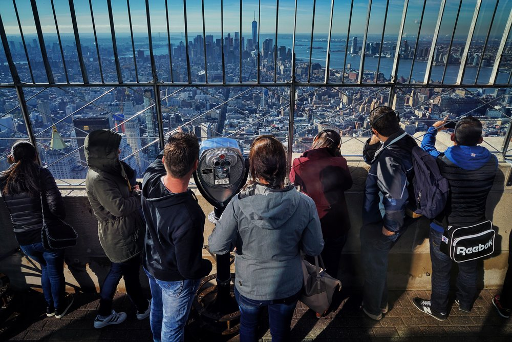 Atop the Empire State Building, NYC