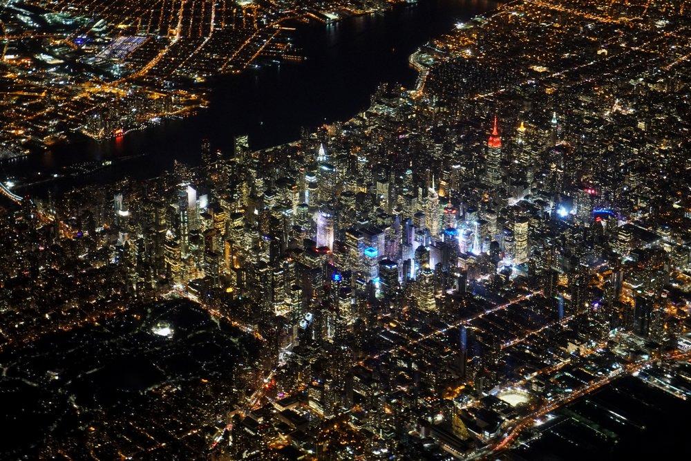 Midtown Manhattan, while departing Newark