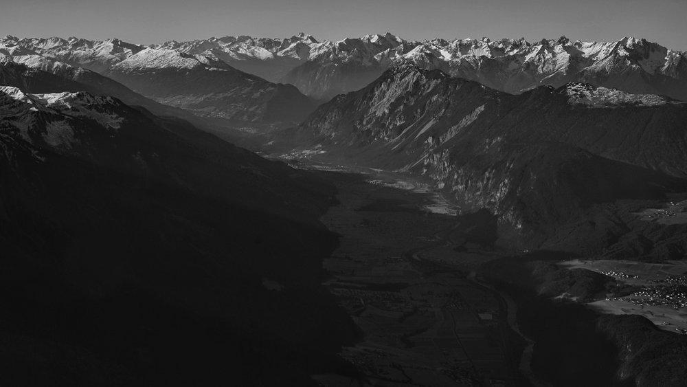 Austrian Alps, departing Innsbruck