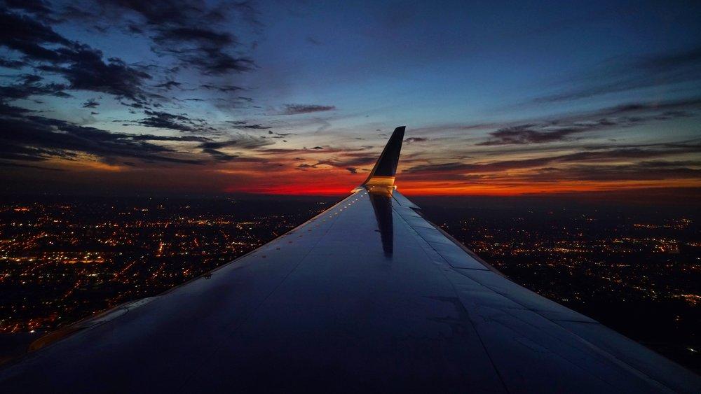 Over Newark, NJ