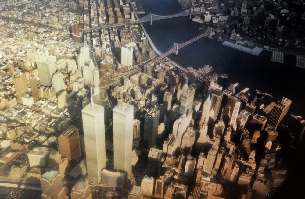 Lower Manhattan, while heading to La Guardia in the late 1990s