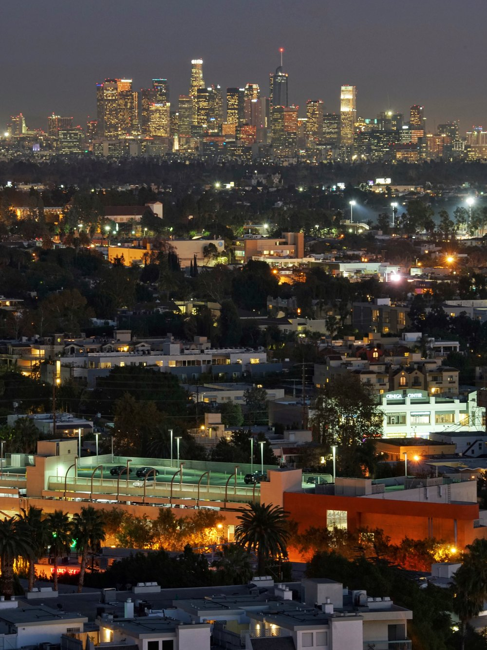 Downtown Los Angeles, from West Hollywood