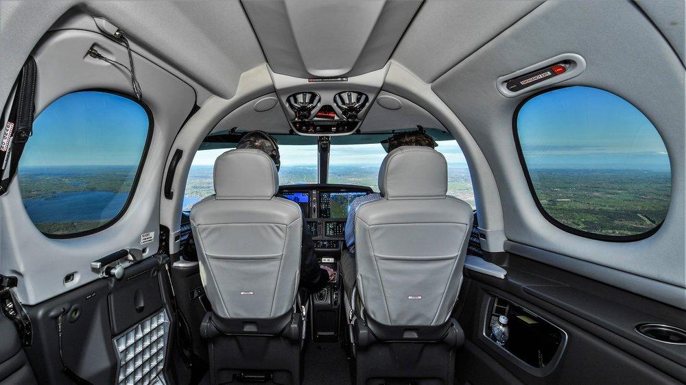 Cirrus SF50 Vision Jet, Above Minnesota