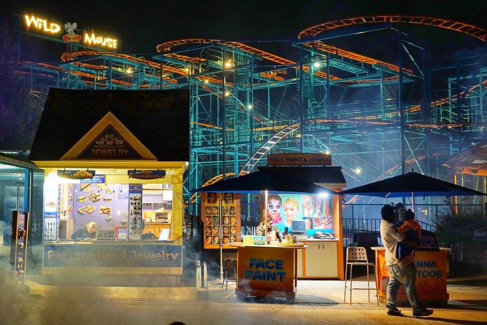 Halloween at the Amusement Park