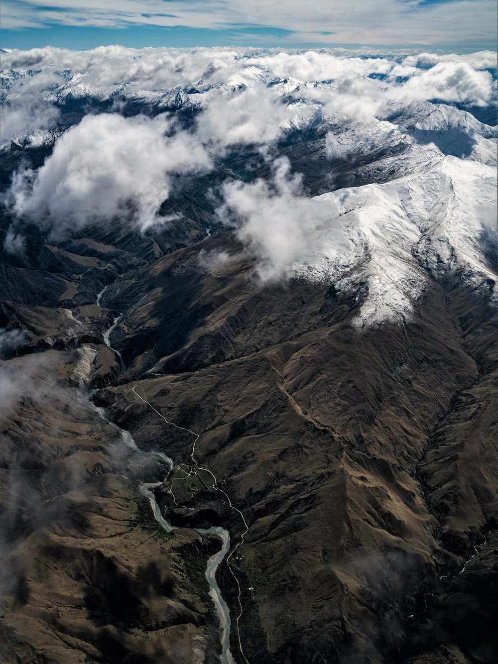 On approach to Queenstown, New Zealand