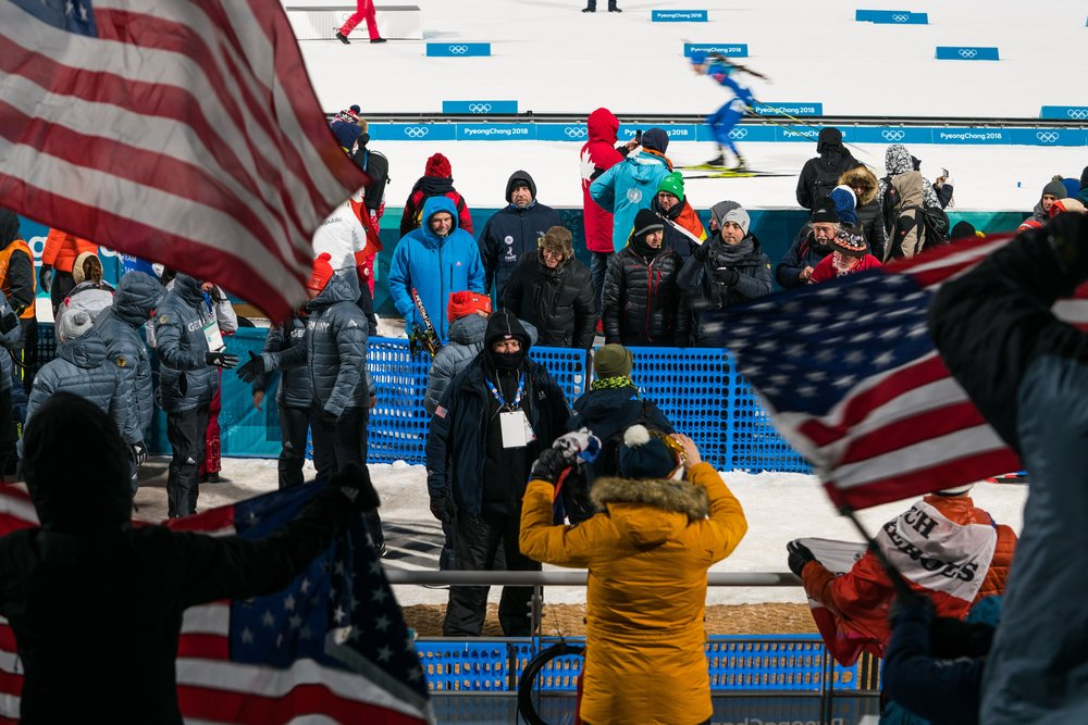 Pair of DSS agents (lower center) at the 2018 Olympics